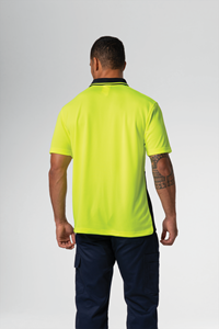 Hi Vis Day S/S Polo - yellow/navy