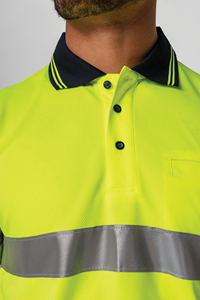 Hi Vis Day/Night S/S Polo - yellow/navy