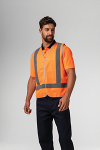Hi Vis Day/Night Vest - compliant orange