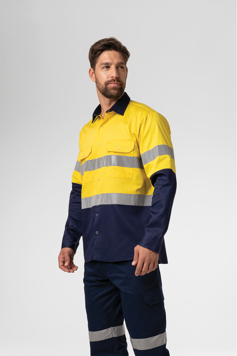 Hi Vis Day/Night Domed Work Shirt