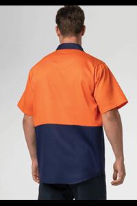 Hi Vis Day Domed Work Shirt - orange/navy