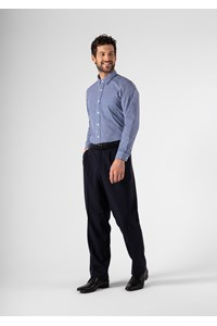 Soft Suiting Men's Twin Pleat Trouser - navy