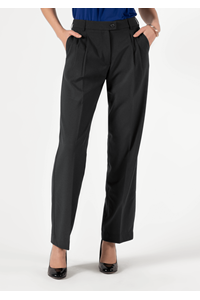 Soft Suiting Women's Twin Pleat Trouser - black