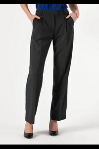 Soft Suiting Women's Twin Pleat Trouser - black