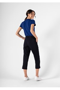 Soft Suiting Women's Crop Trouser - navy
