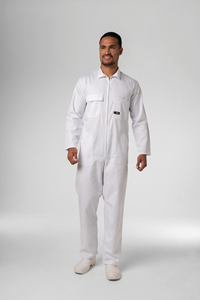 Classic Deane Zip Overall - white