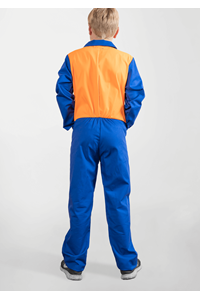 Deane Childs Zip Overall With Two Tone - royal/orange