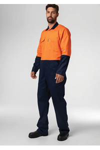 Flex Day Dome Overall - navy/orange
