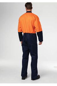 Flex Day Zip Overall - navy/orange