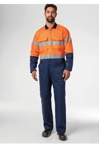 Flex Day/Night Zip Overall - navy/orange