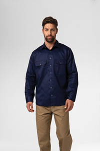 Deane Dome Work Shirt - navy