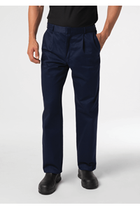 Men's Single Pleat Work Trouser - navy
